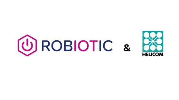 Logo der Firma ROBIOTIC und Helicom