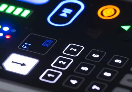 Nahaufnahme beleuchtete Tastatur